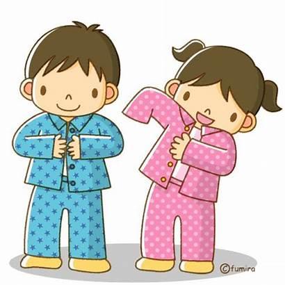 Pajamas Put Clipart Clothes Routines Clip Clipartmag