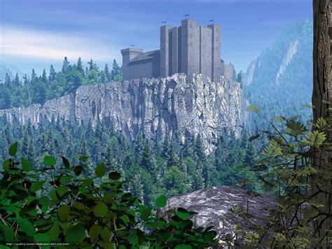 wallpaper castle prelude art forest fighting