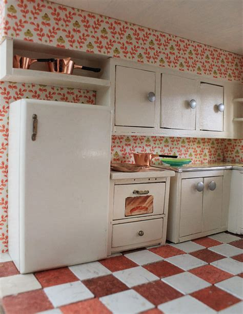 vintage custom kitchen   betsy mccall dollhouse retro renovation