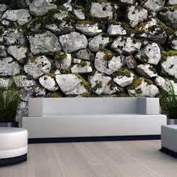 steinwand wohnzimmer material tapete steinoptik