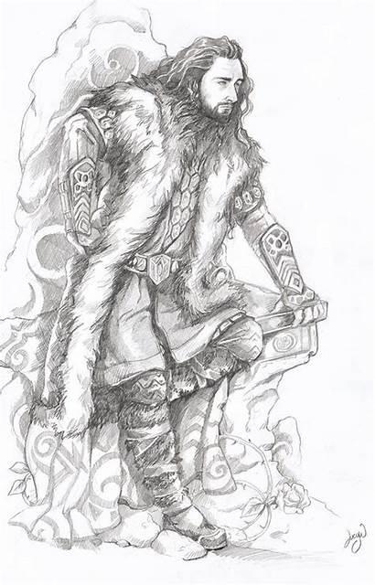 Hobbit Thorin Oakenshield Coloring Pages Fanart Sketch