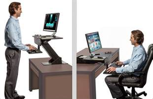 adjustable height gas spring easy lift standing desk sit