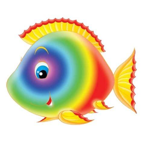 decoration chambre bebe theme jungle sticker poisson arc en ciel un sticker autocollant pour