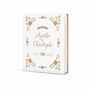 joli livre d39or mariage personnalise design champetre et With chambre bébé design avec faire part mariage fleuri