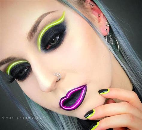 the makeup light neon light makeup trend is on instagram fashionisers