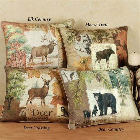 image detail   rustic wildlife decorative pillows