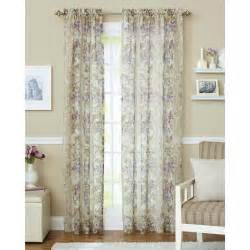 better homes and gardens roses sheer curtain panel