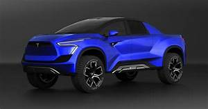 This Concept Imagines What A Tesla Pickup Truck Might Look