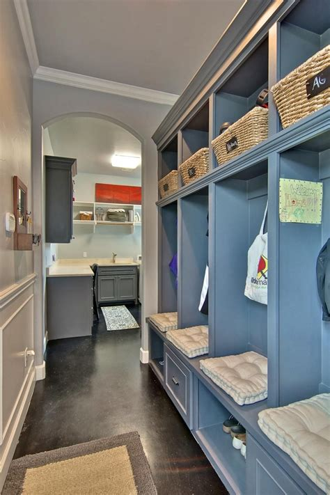 Stylish Yet Approachable Spaces by This Stylish Yet Functional Mudroom Is Equipped With