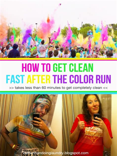 How To Get The Color by Better Than Doing Laundry How To Get Clean Fast After The