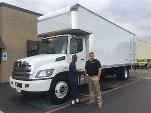 Hino 268 26ft Box Truck With Custom Top Attic And Side