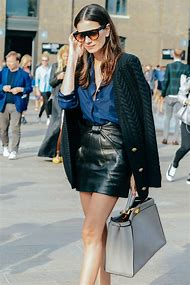 Mini Skirt Street Fashion