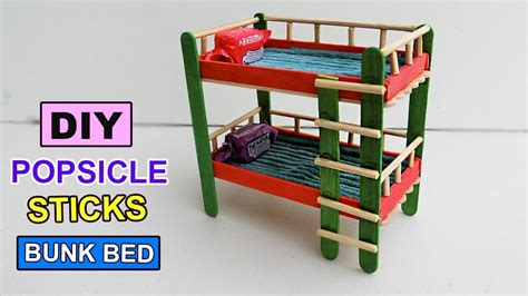 toddler bed and mattress popsicle stick crafts bunk bed toys diy