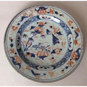 Assiette Bleu Canard : porcelaine ancienne sur proantic art d 39 asie ~ Teatrodelosmanantiales.com Idées de Décoration