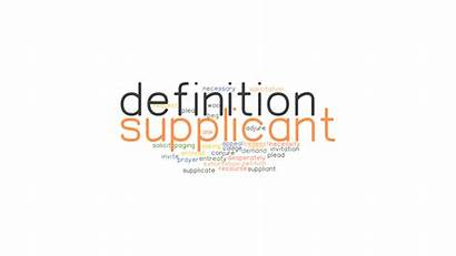 Supplicant Definition Another Word Synonyms Words Related