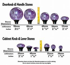 Kitchen Faucet Size Chart Stone Sizes Shapes Gemstone Door Hardware Spheres