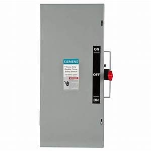 Siemens Double Throw 100 Amp 600