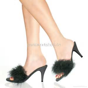 Fuzzy Bedroom Slippers by Fourrure De Gel 233 E Talon Haute Pantoufle De Talon Pour