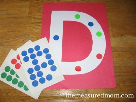 8 letter d crafts the measured 728 | Letter D art project 8 590x442