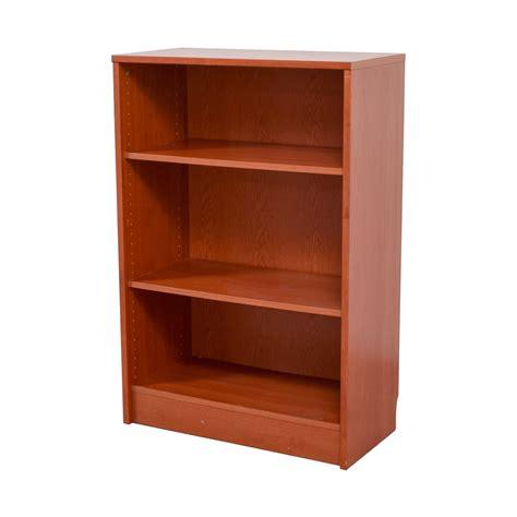 Second Bookcase by 74 Three Shelf Wood Bookcase Storage