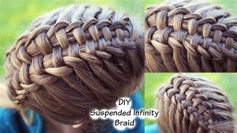 diy suspended infinity braid looks a lot harder than it