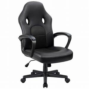 Walnew, Black, High, Back, Office, Desk, Chair, Gaming, Chair, Ergonomic, Computer, Adjustable, Leather