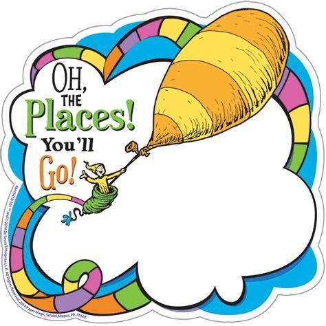 Dr Seuss Oh The Places Paper Cut Outs  Eu841541 Eureka