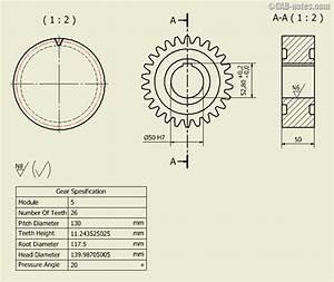 Mechanical Engineering Gears Drawings