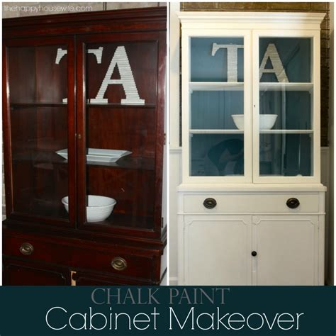 diy hutch chalk paint makeover  happy housewife