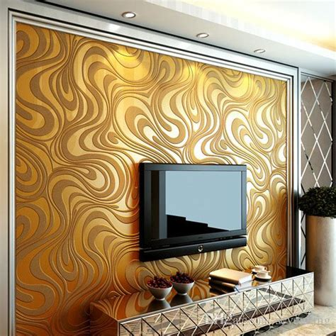 contemporary wallpaper art deco  simple style gold brown