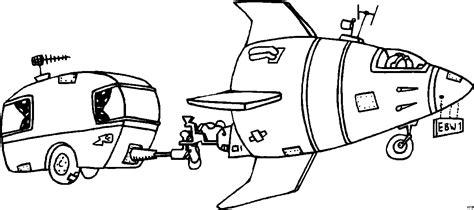 rakete zieht wohnwagen ausmalbild malvorlage comics