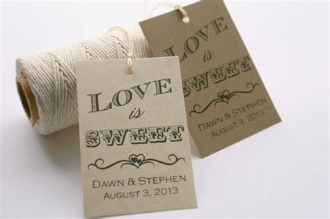 wedding favor tag template love is sweet tag printable