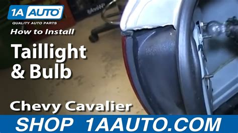 How Replace Taillight Bulb Chevy Cavalier Youtube