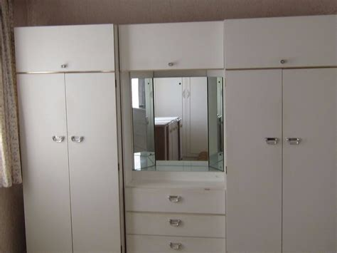 Wardrobe With Dressing Unit by 2 Two Door Wardrobe Units And Lit Dressing Table Unit