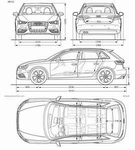 Longueur Audi A3 : audi a3 3 sportback 5 portes fiche technique dimensions ~ Medecine-chirurgie-esthetiques.com Avis de Voitures