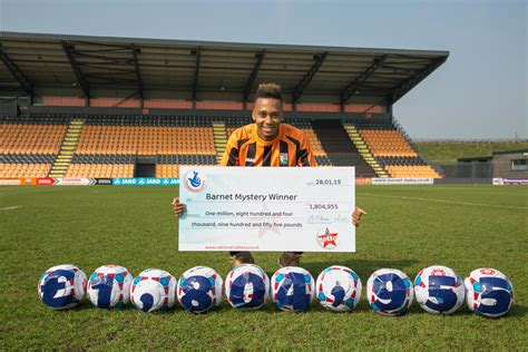Barnet Fc And Fans Search For Local Lotto Winner