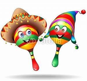Maracas Cartoon Characters-Vector | fotoliaPIN! | Pinterest