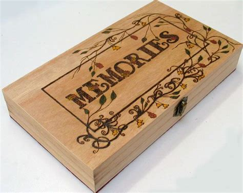 pyrography memories keepsake box pyrography wood