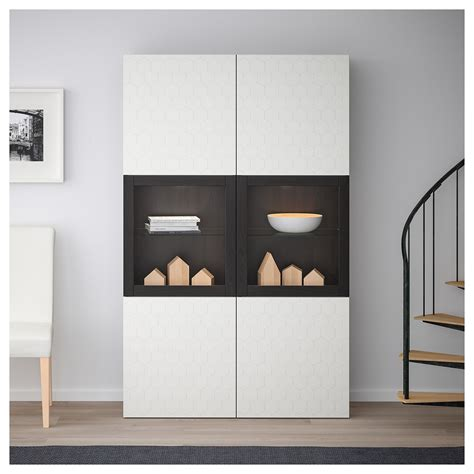 Ikea Besta Canada by Ikea Best 197 Storage Combination W Glass Doors Black Brown
