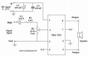 Tda 7052 Mono Amplifier Schematic Diagram
