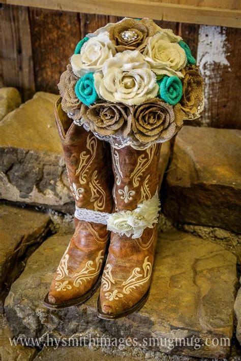 burlap bouquet   western wedding crafty pinterest