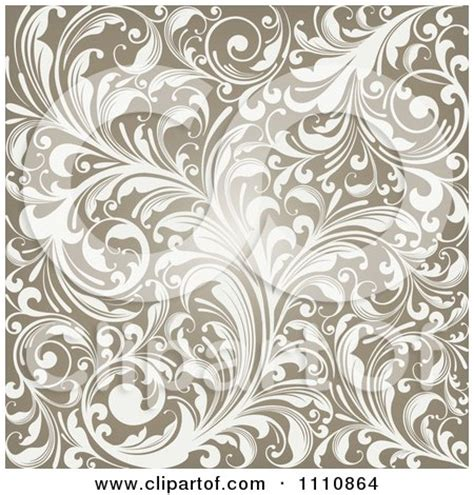 clipart glowing brown flourish background royalty