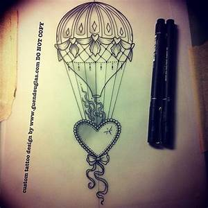 Hot Air Balloon Outline Tattoo | www.imgkid.com - The ...