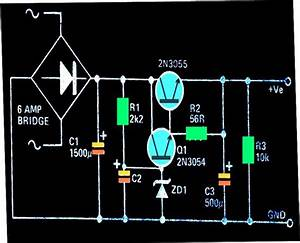 Regulated  High Current  Ripple Free Power Supply Circuit