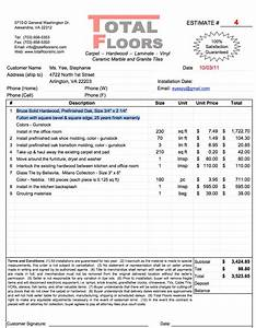 Flooring installation invoice joy studio design gallery for Flooring installation invoice