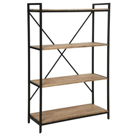 appliques cuisine étagère industriel 4 étages en bois et métal edena l 90xl 35xh 141cm