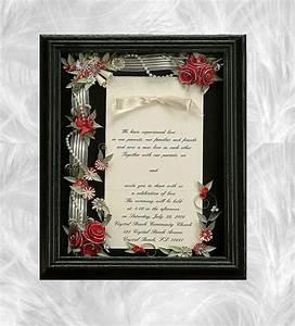 framed wedding invitation wedding shadow box wedding gift With wedding invitation display box