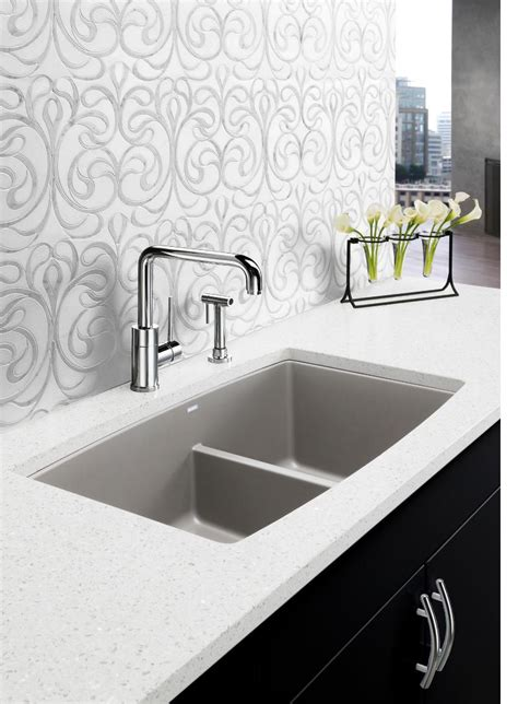 silgranit kitchen sinks blanco performa low divide white gold 2218