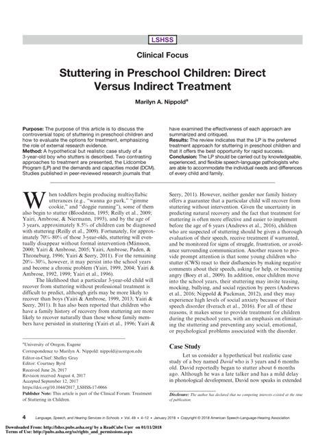 pdf stuttering in preschool children direct versus 688 | largepreview