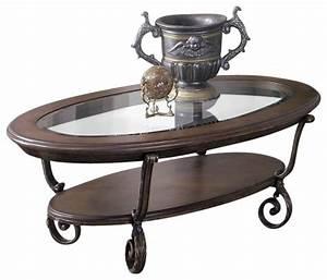riverside fortunado oval coffee table in distressed cherry With distressed oval coffee table